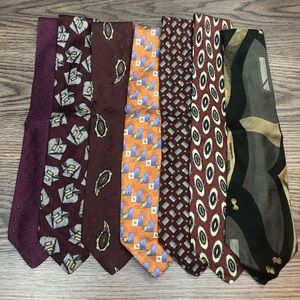 Lot of 7 Robert Talbott Silk Ties